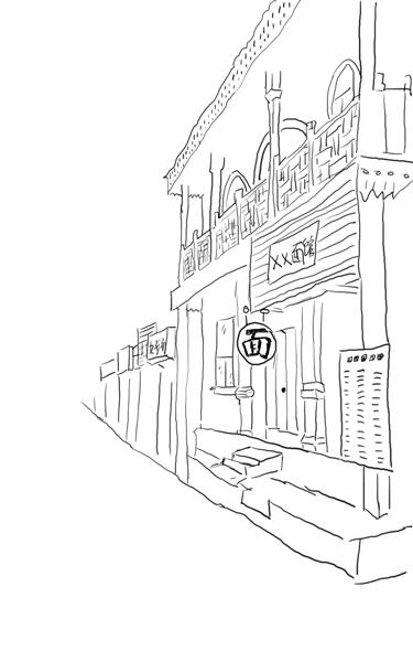 西餐厅手绘表现技法